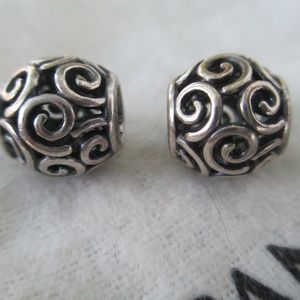 lot of 2  Pandora  Ocean Breeze Swirl Bead